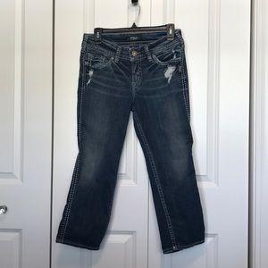 """Silver Suki Capri women's pants 30W x 22.5""""L"""